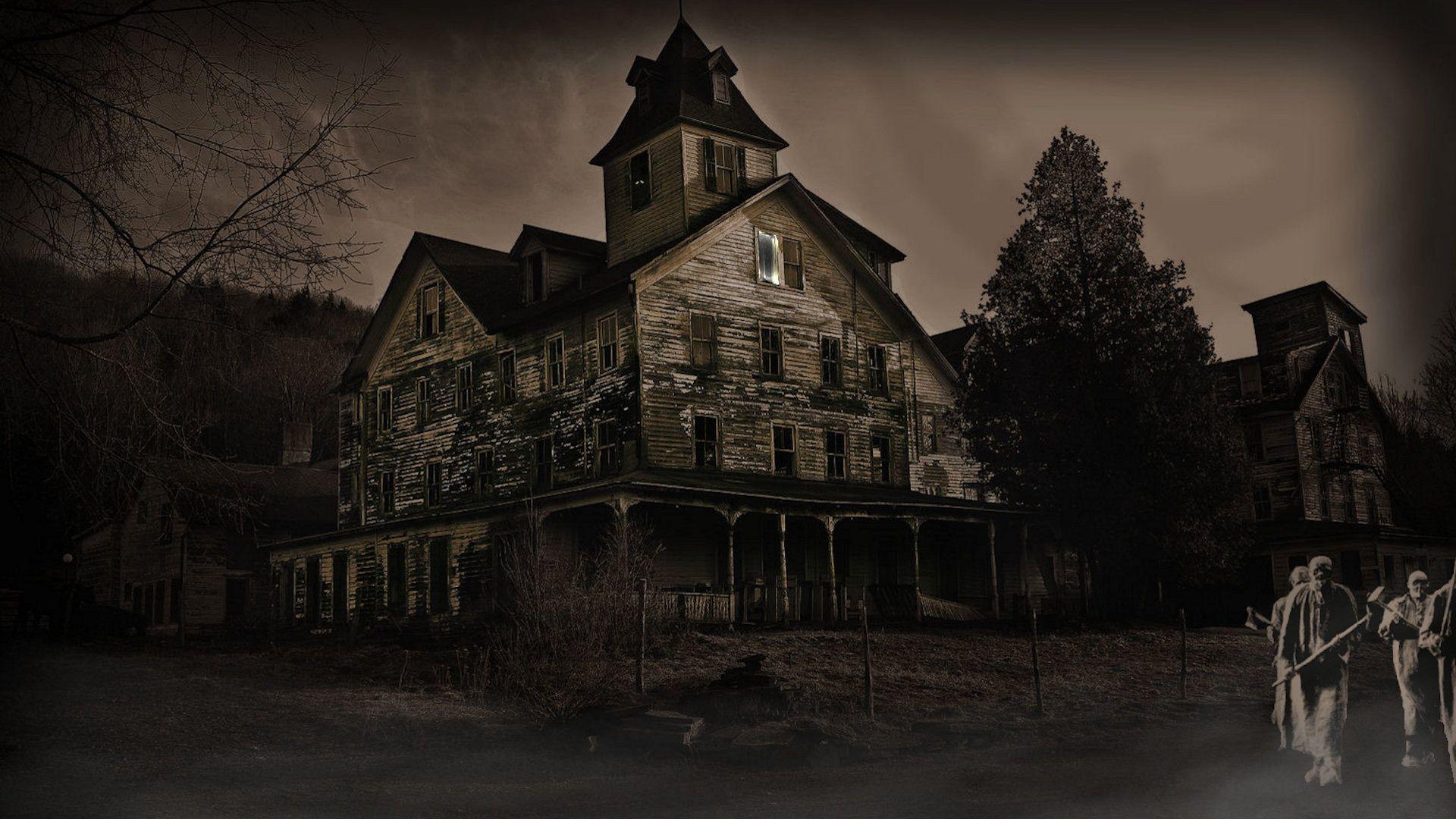 Animated Haunted House Wallpaper - WallpaperSafari