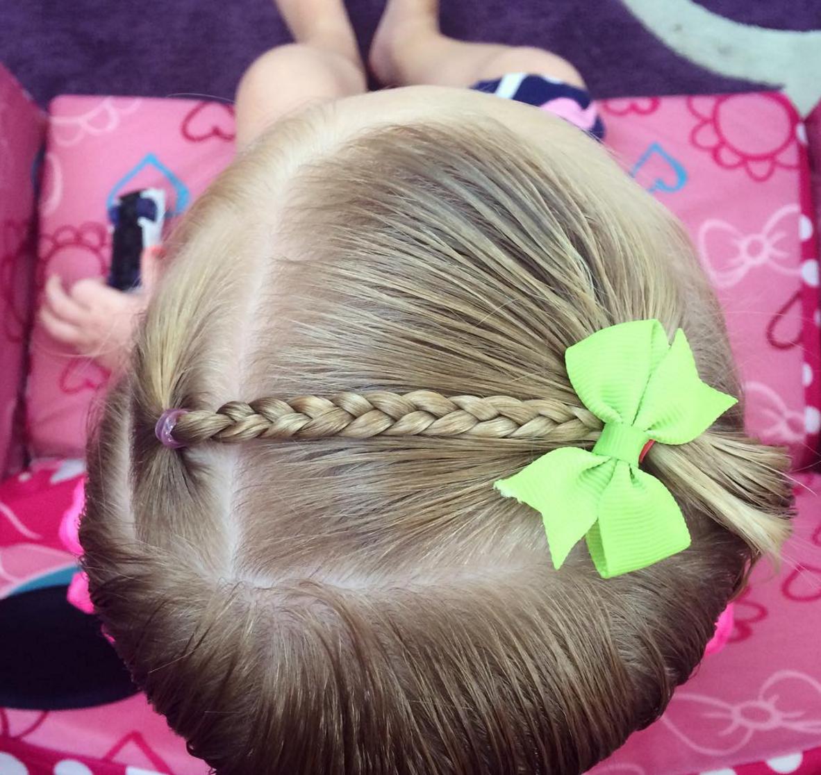 Simple Braid Across Toddler Hairstyle   Kids hairstyles ...