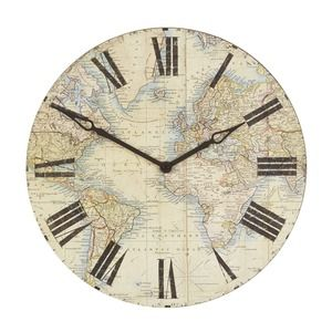 World map wooden wall clock clock pinterest wooden walls wall world map wooden wall clock gumiabroncs Image collections