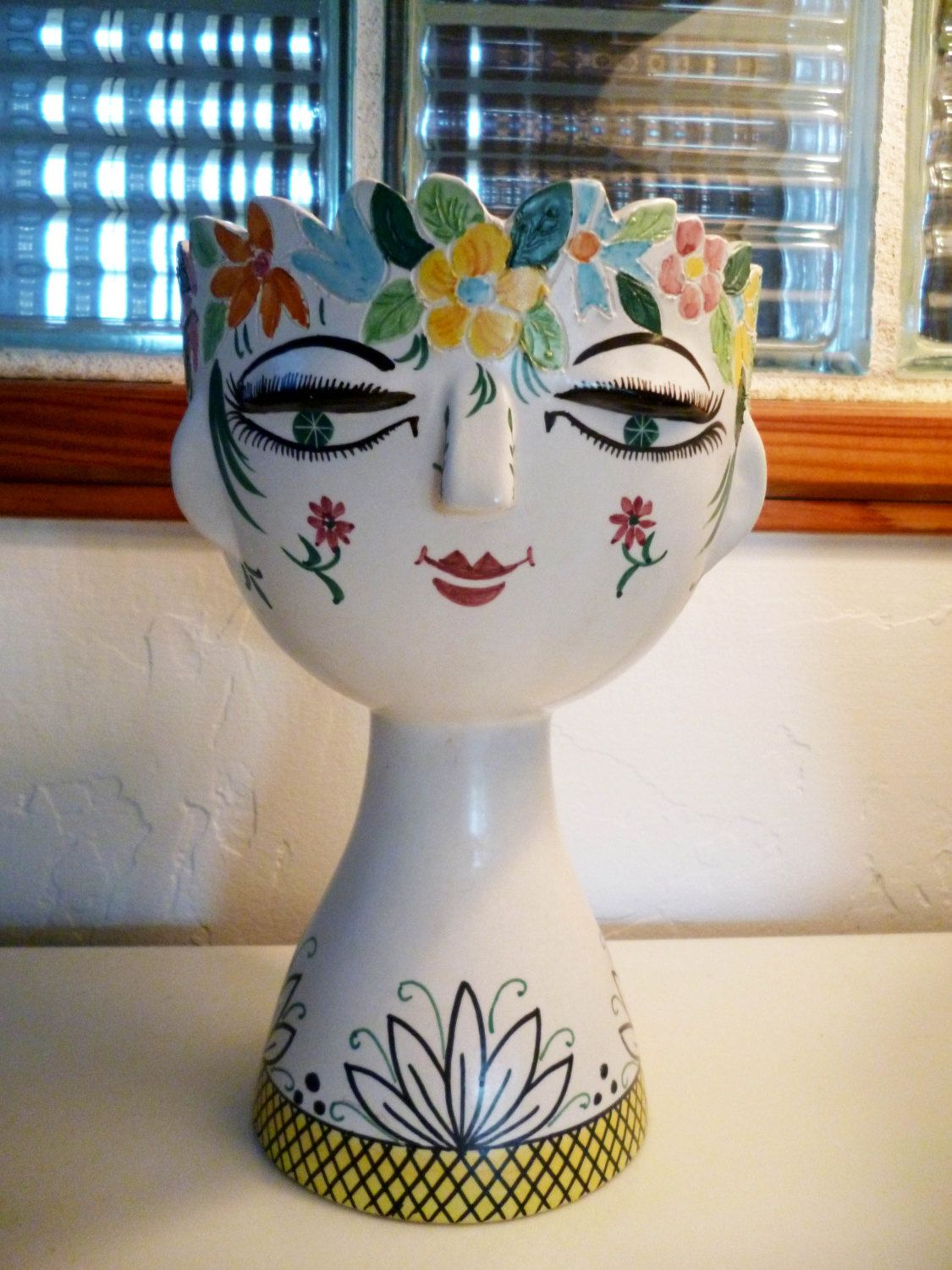 Reserved for mary vintage mid century modern italy statue face reserved for mary vintage mid century modern italy statue face woman meiselman imports italian head vase smile yellow pink wow reviewsmspy