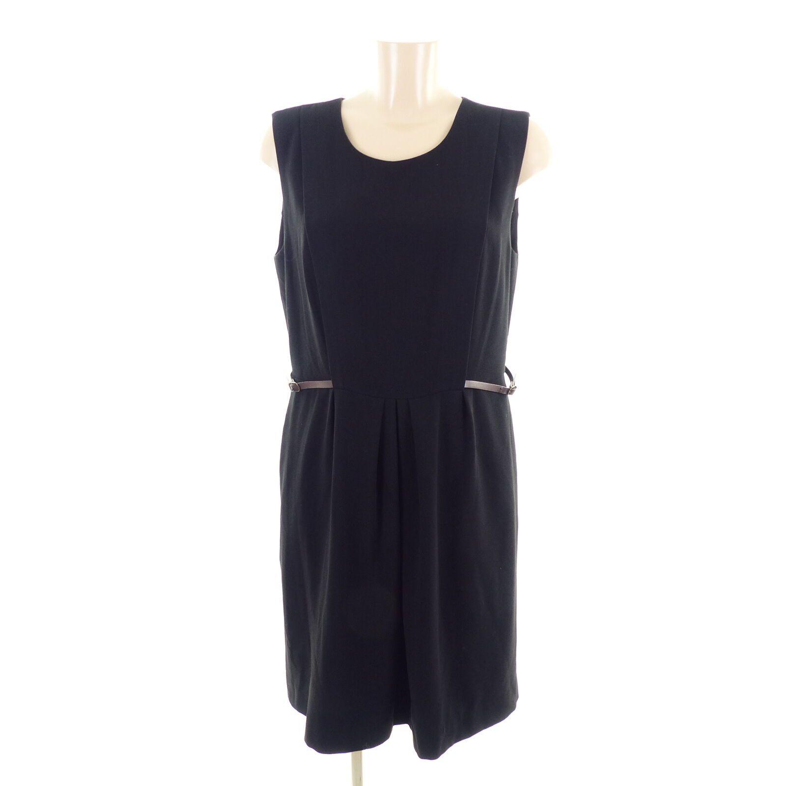 NICE THINGS Kleid Dress Damen Etuikleid Schnallen Schwarz Gr. 13