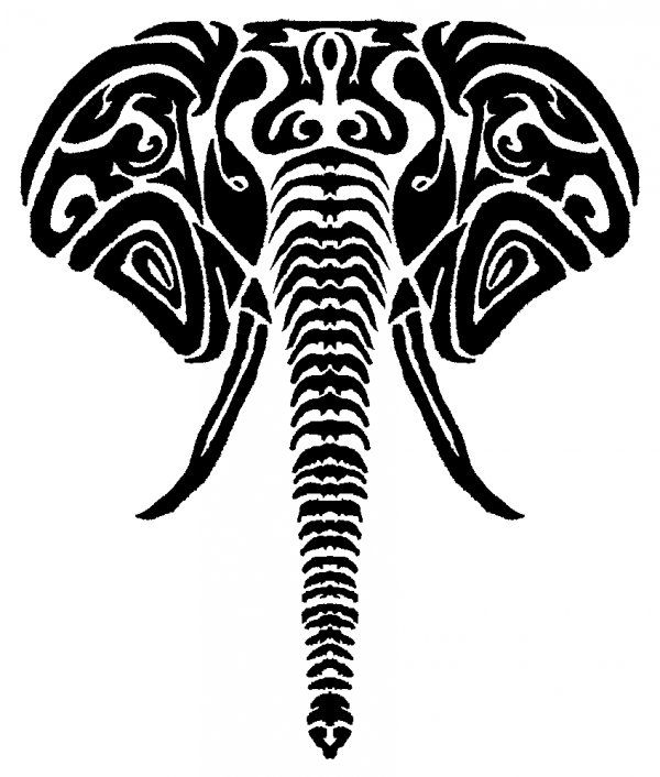 Elephant Tribal by ~PJMohr on deviantART | Elephant logo ...