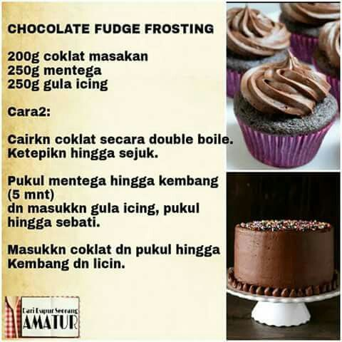 Chocolate Fudge Frosting Resep Makanan Penutup Makanan Makanan Penutup