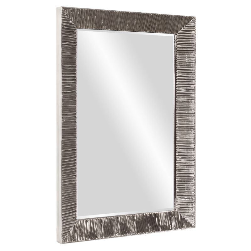 Howard Elliott 92098 Tennessee 60 X 40 Ribbed Rectangular Mirror Silver Home Decor Mirrors Wall