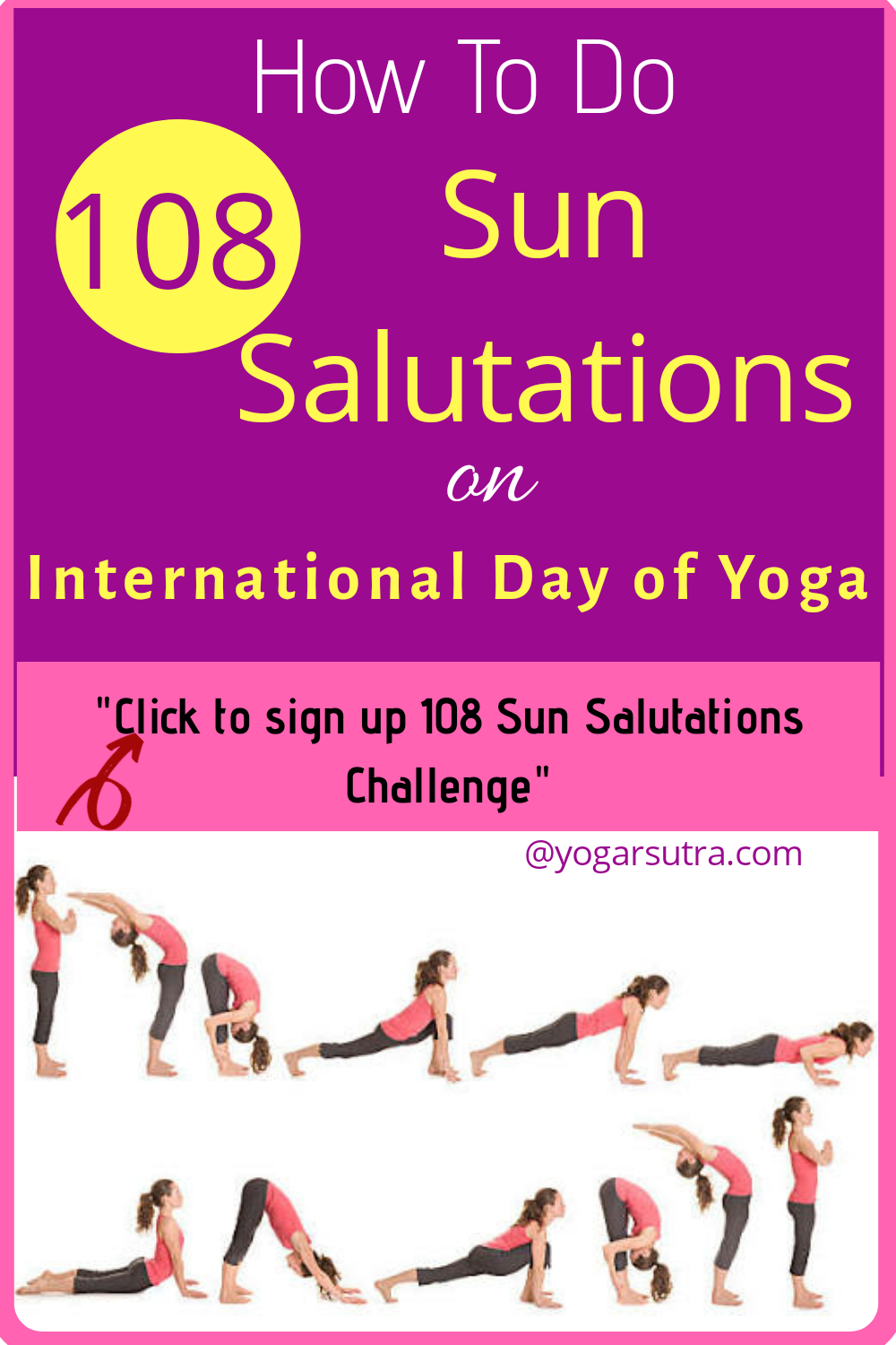 108 Sun Salutations Challenge On International Day Of Yoga Boost Your Will Power And Stamina Yogarsutra 108 Sun Salutations Sun Salutation Yoga For Flexibility