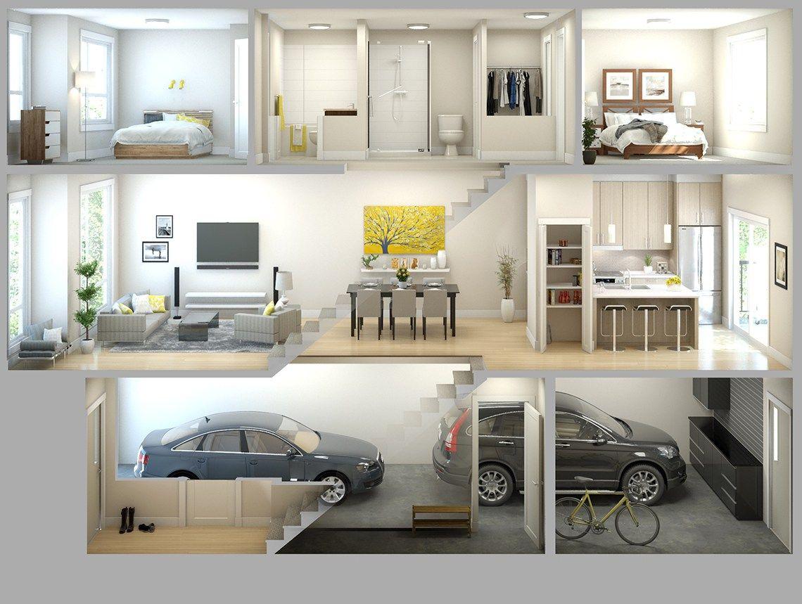 townhouse floorplan design winner - Google Search