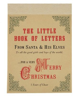 the little book of letters from santa and his elves - a great way to - gift letters
