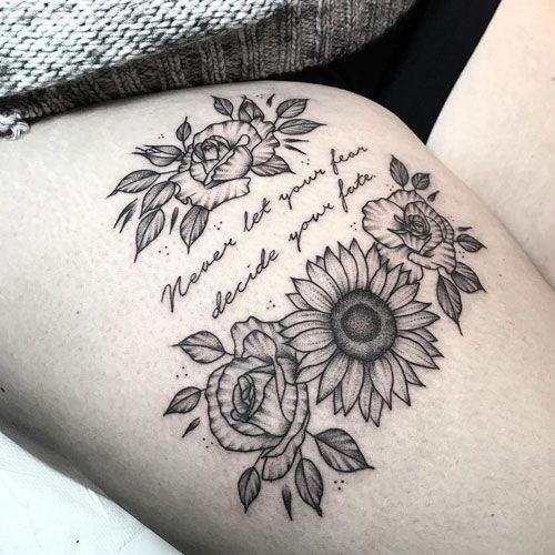 Photo of Best Simple Thigh Tattoos – Best Thigh Tattoos For Women: Cute Thigh Leg Tattoo …