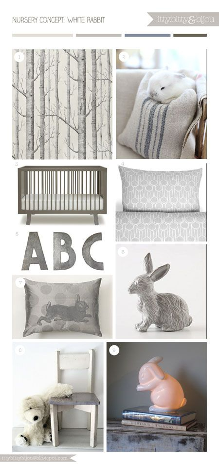 White Rabbit Nursery Concept
