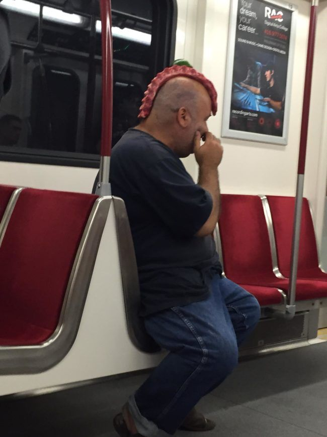 Wearing ribs on your head is all the rage right now.
