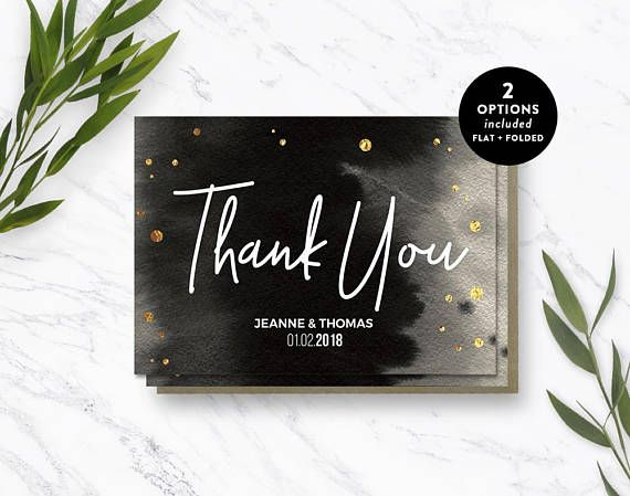 Examples Of Wedding Thank You Cards