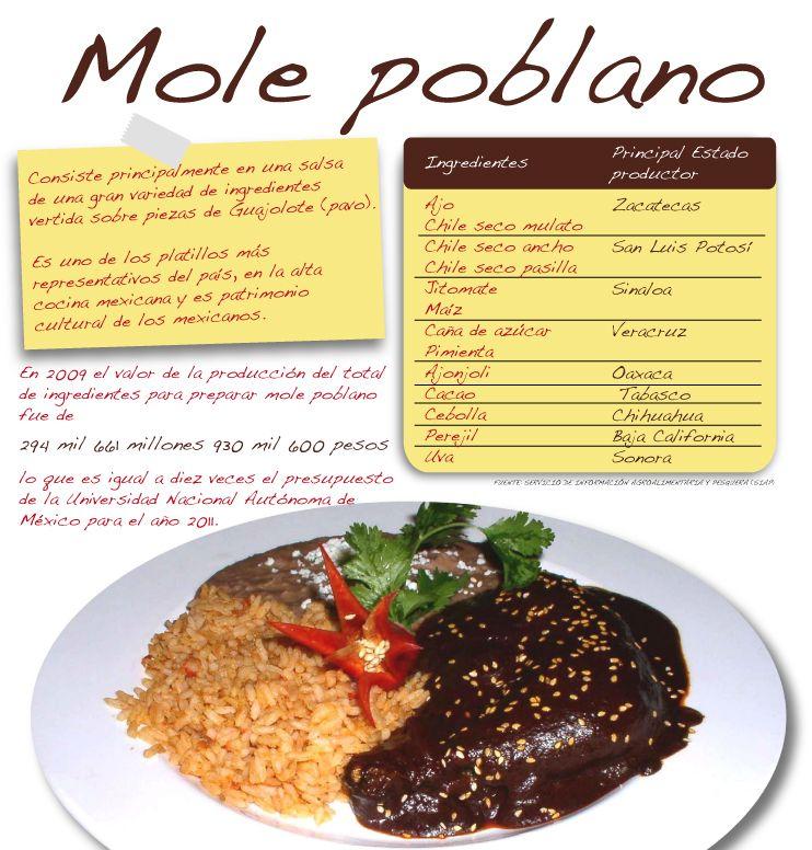 Mole Poblano | Food Info | Pinterest | Comida