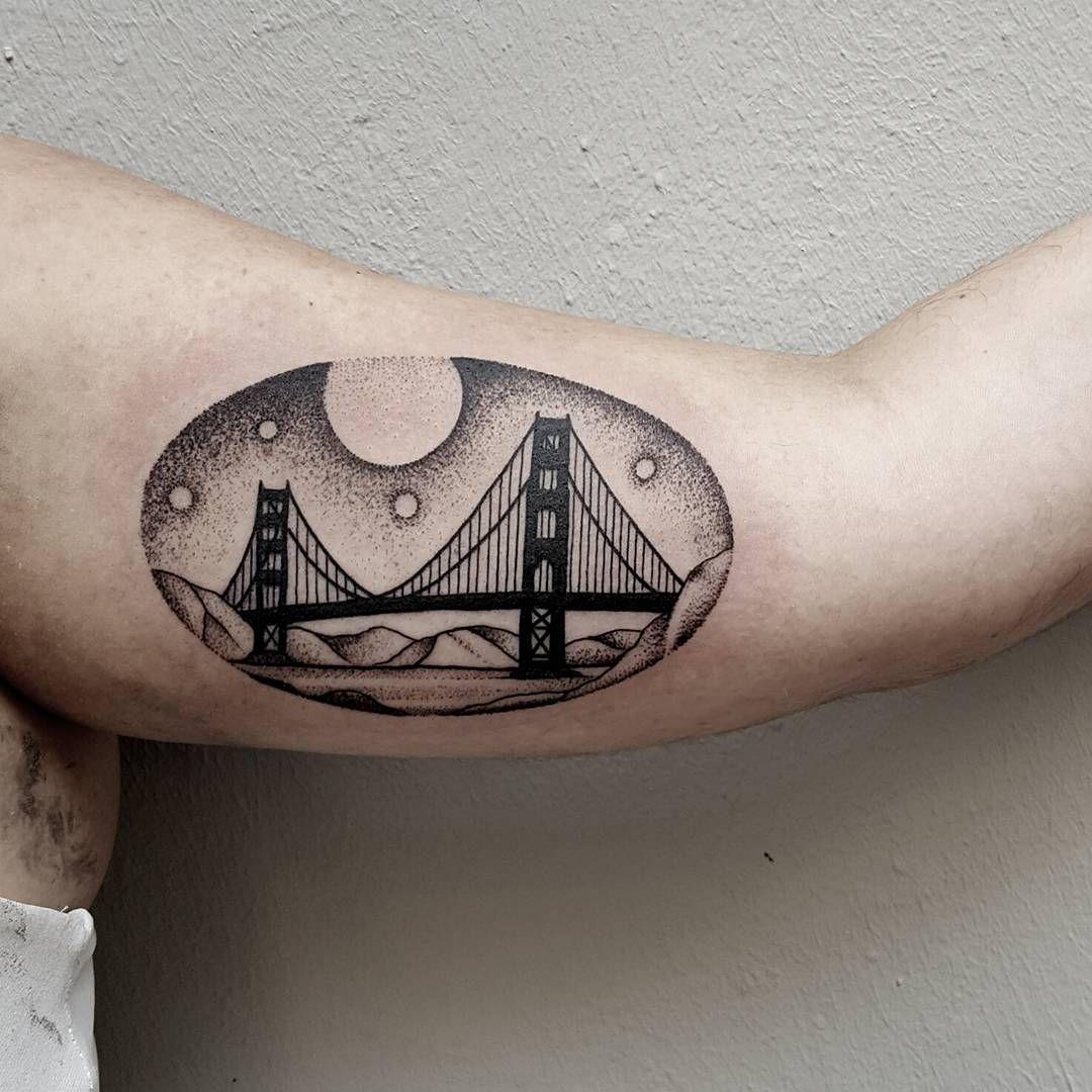 golden gate bridge done akaberlin tattoos pinterest golden gate bridge tattoo and tattos. Black Bedroom Furniture Sets. Home Design Ideas
