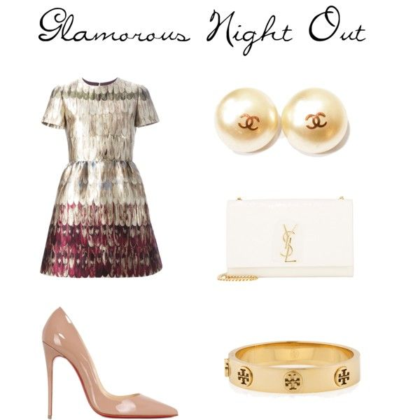A fashion look from September 2015 featuring Valentino dresses, Christian Louboutin pumps and Yves Saint Laurent handbags. Browse and shop related looks.