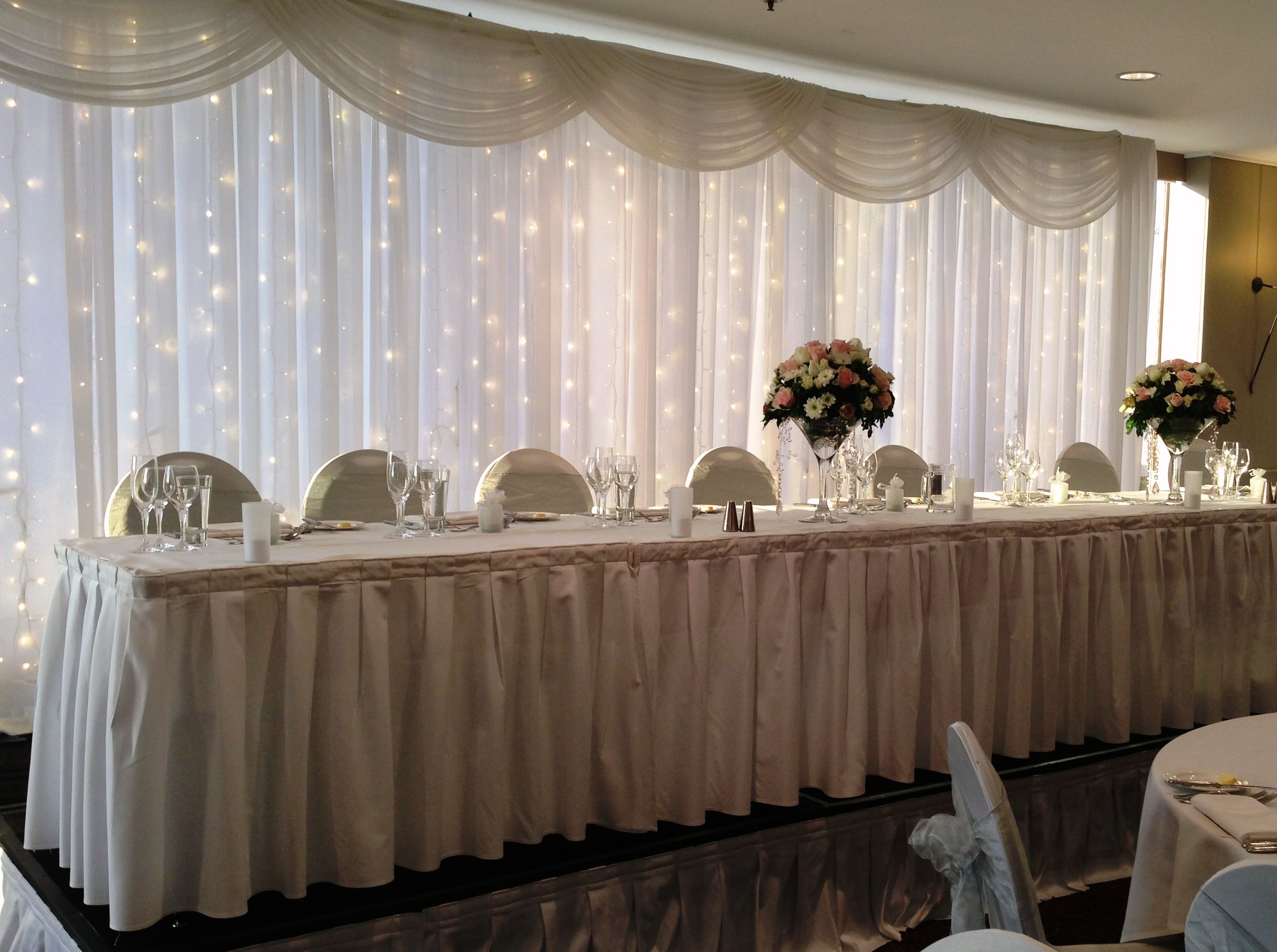 Beautiful Wedding Table Backdrops What A Day It Was I