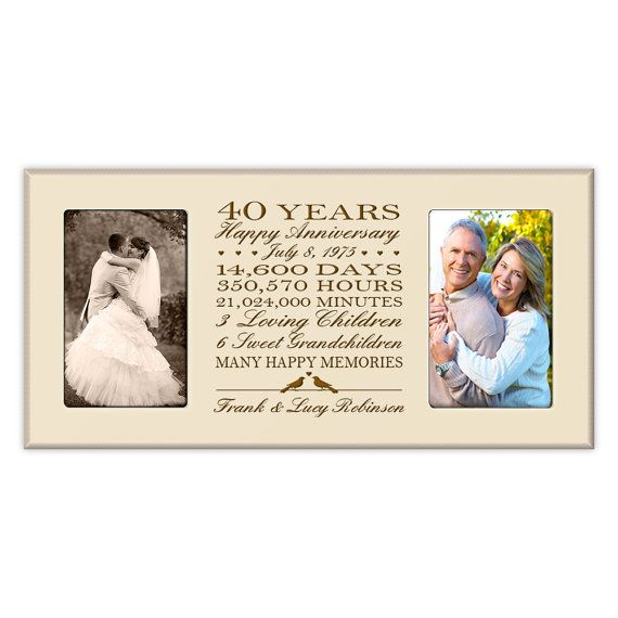 40th Wedding Anniversary Gifts For Parents Ideas: Personalized 40th Anniversary Gift For Him,40th Wedding