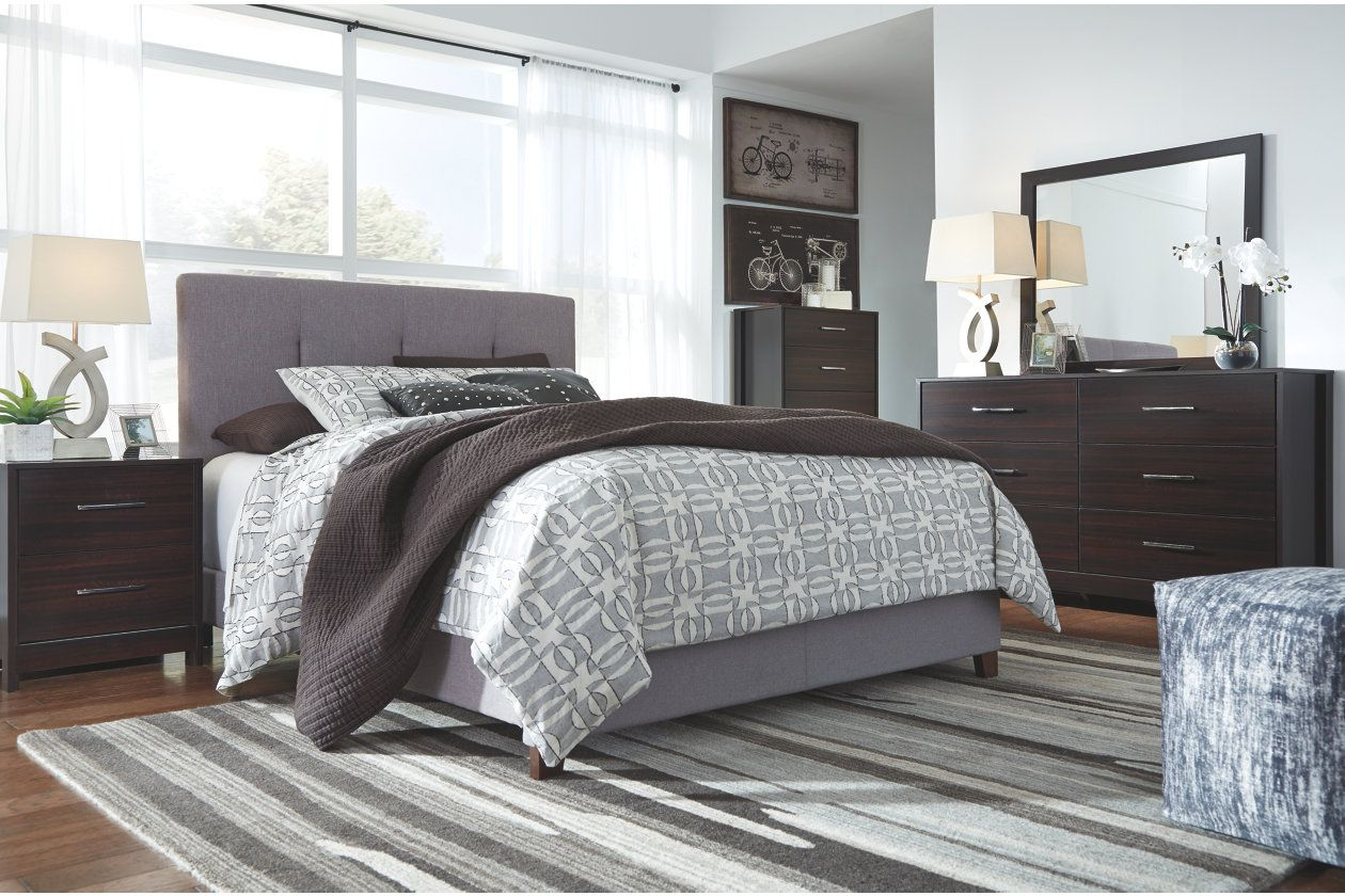 Dolante Queen Upholstered Bed Ashley Furniture Homestore Queen