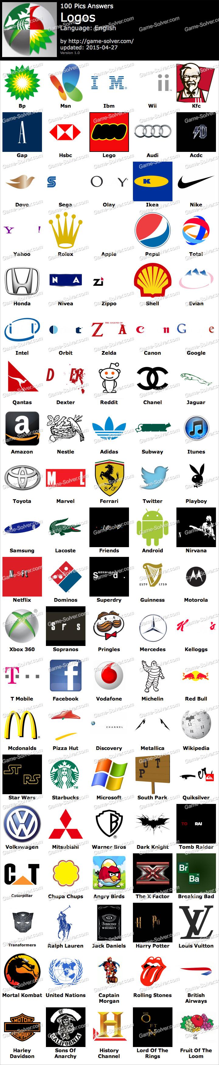 100 answers logo pics