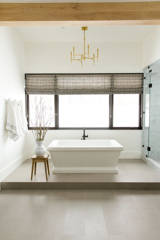 Modern Mountain Home Tour Master Wing Bathroom Modern