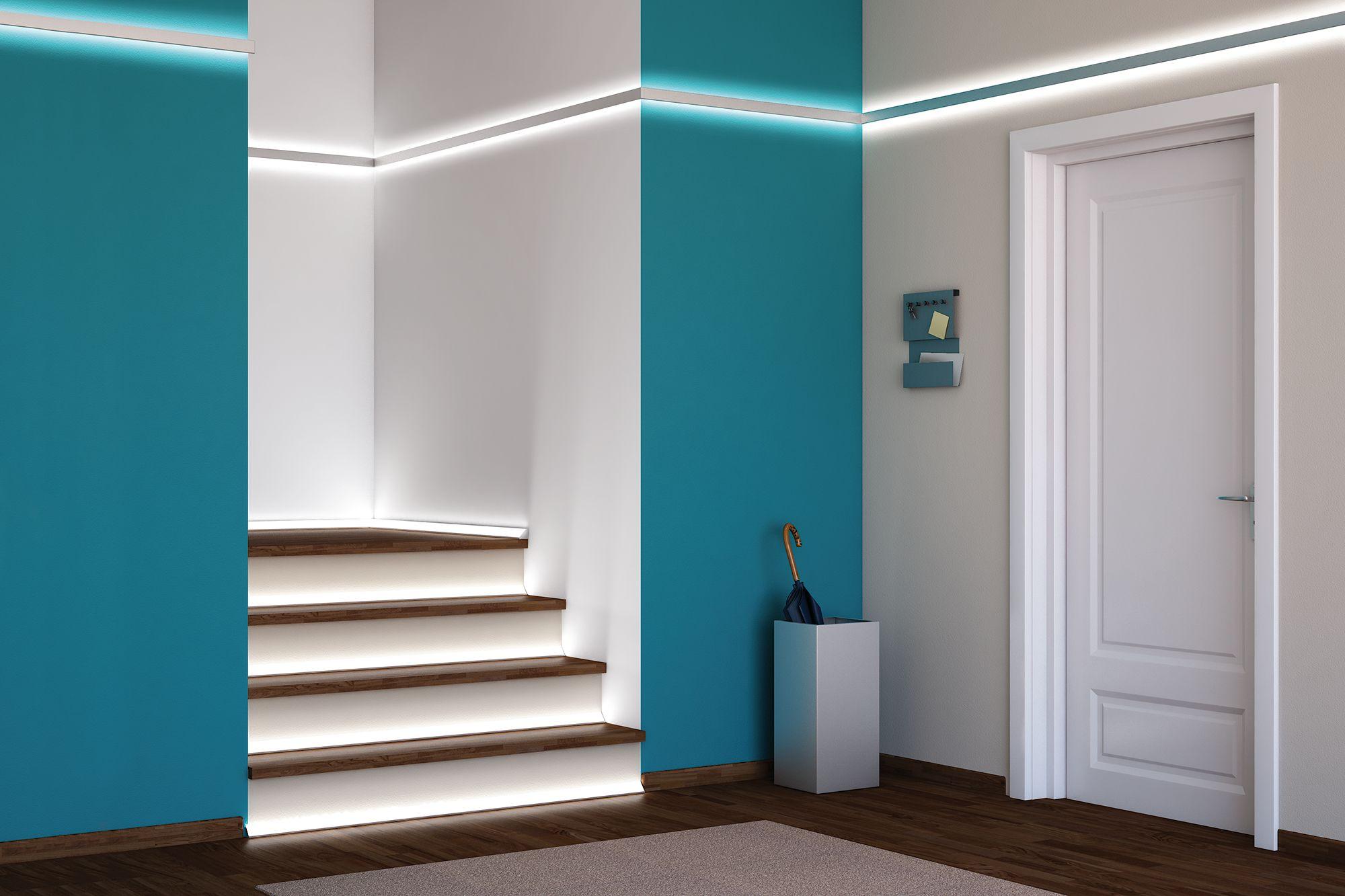 Pin Von Silvia Weilerscheidt Fidanza Auf Beleuchtung Led Lichtband Led Treppenbeleuchtung Led Band