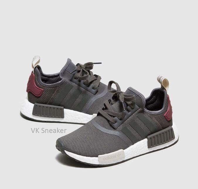 New Adidas Nmd R1 W Mesh Utility Grey Olive Maroon Ba7752 Women S 8 5 Sneaker Schuhe Einkaufen