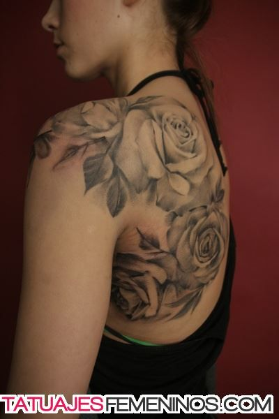 Tatuajes De Rosas Para Mujeres En La Espalda 9 Tatuajes Espalda