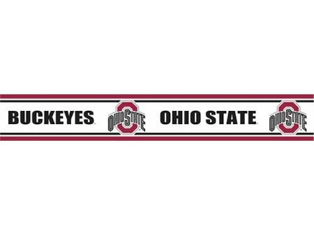 PeelNStick Wallpaper Border. Ohio state buckeyes, Ohio