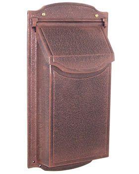 vertical wall mount mailbox copper 11900 contemporary vertical wall mount mailboxes residential