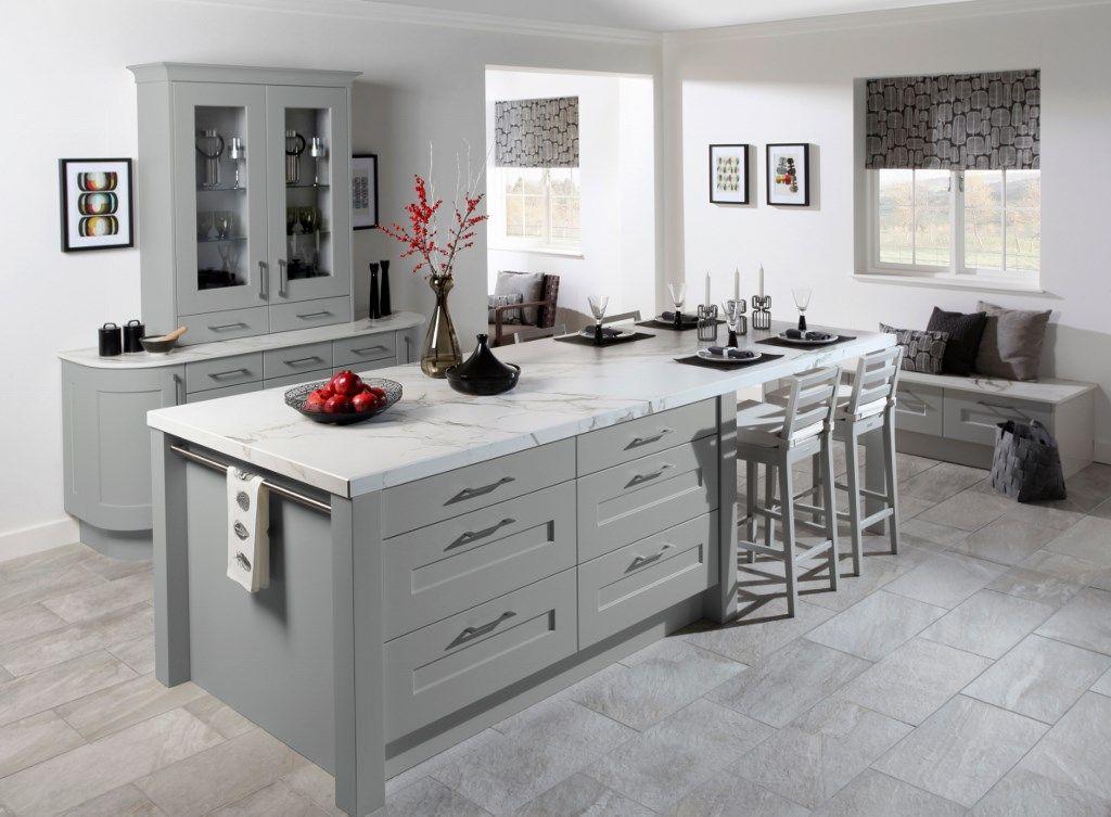 Burbidge\'s Stowe Kitchen in Matt Lead - Dresser, Island ...