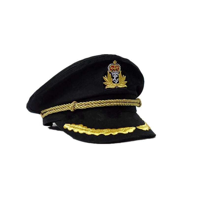Captain S Hat Black Military Cap Outfits With Hats Military Hat