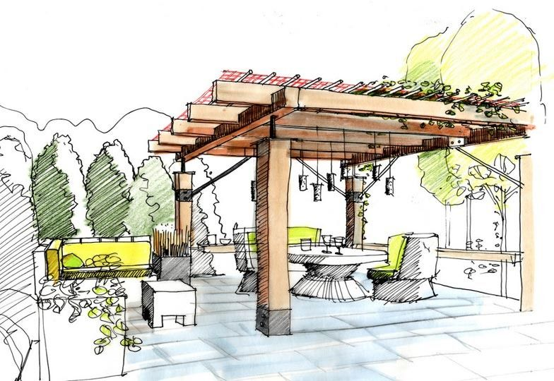 Landscape Architecture Perspective Drawings ben young landscape architect | outdoor entertaining spaces