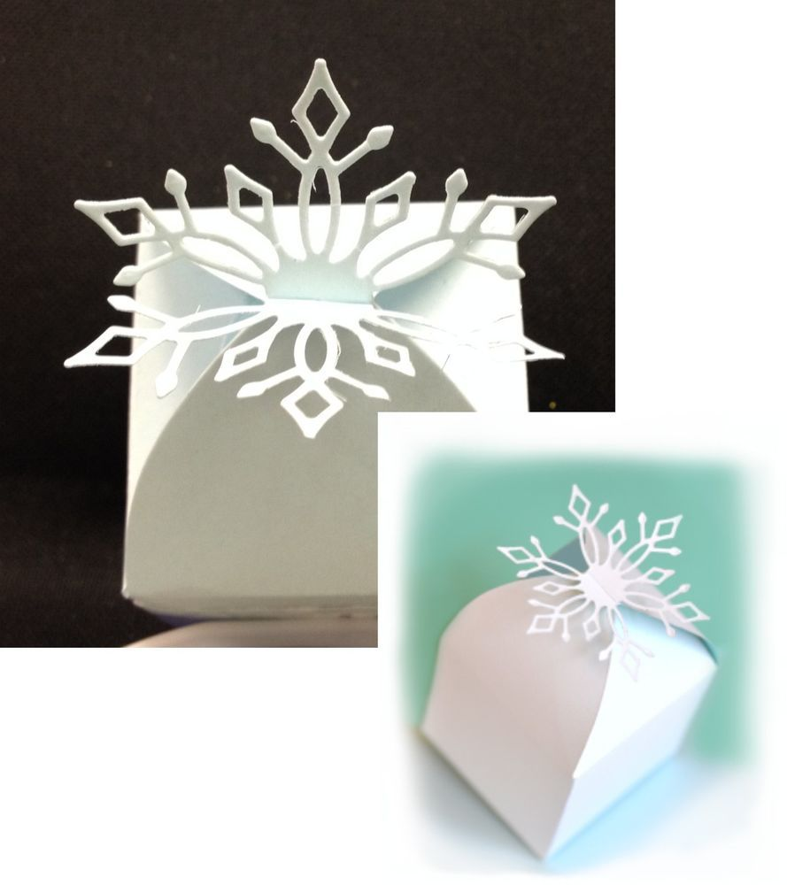 Gift Box SNOWFLAKE FAVOR BOX Diecut by MEMORY BOX snow winter ...