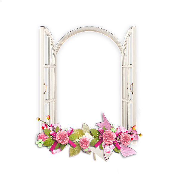 Transparent Frame Glasses Tumblr : Window with Pink Flowers Transparent Frame Frame ...
