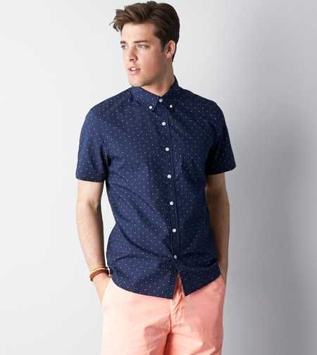 AEO Patterned Button Down Shirt | High School Seniors | Pinterest ...