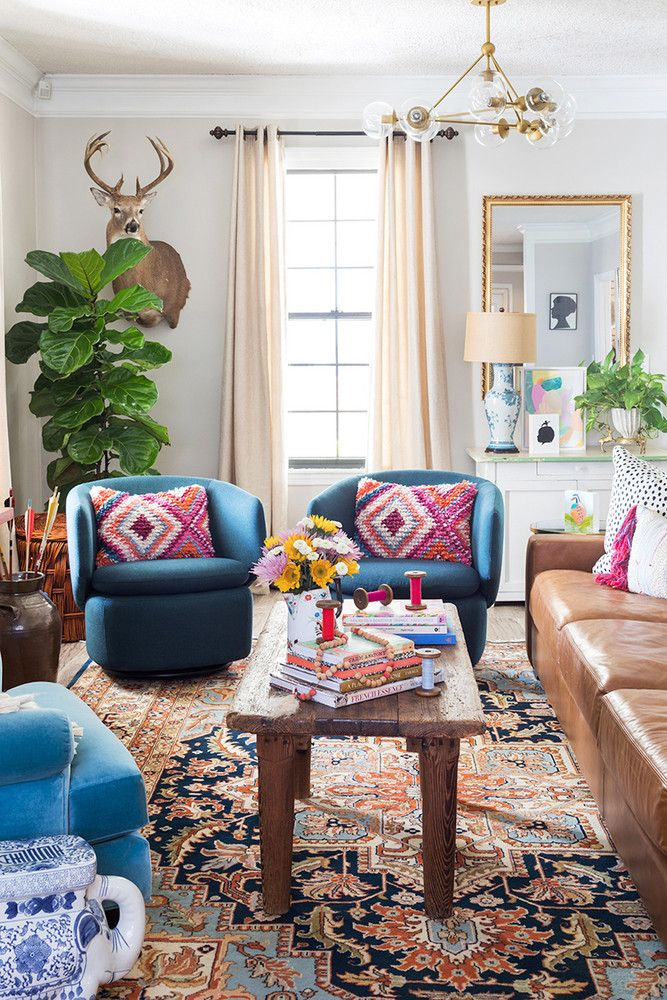 Artist Elaine Burge's Eclectic Georgia Home  Whitney Durham Interiors is part of Artist Elaine Burges Eclectic Georgia Home Whitney Durham - Inside one colorful artist's equally colorful home  Filled with bright hues and bold patterns, Elaine Burge's rural Georgia home packs a serious punch  See inside the design with Whitney Durham Williams Interiors, and commentary from Burge herself