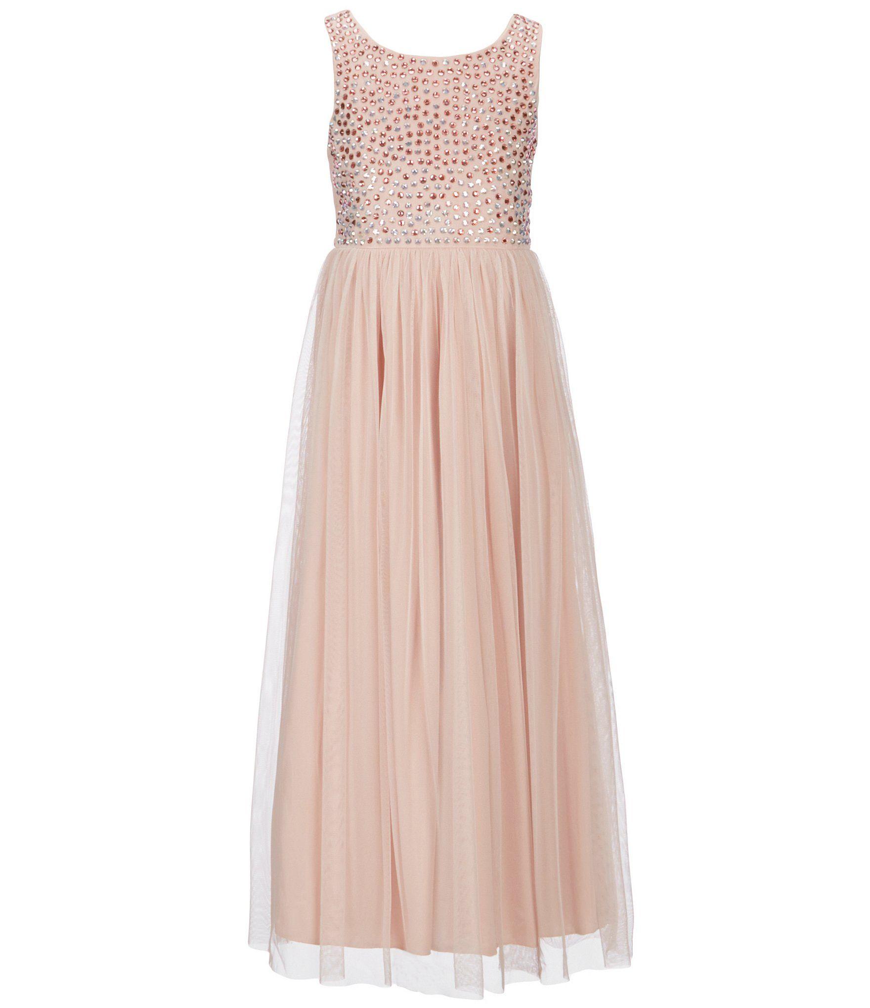 65409f822 Sequin Hearts 2-Pc. Lace Charmeuse Maxi Dress Set, Big Girls (7-16) &  Reviews - Dresses - Kids - Macy's