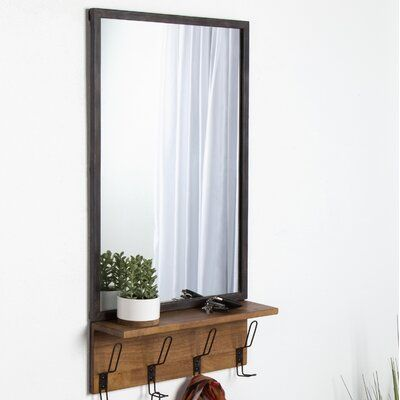 Allmodern Jacobsen Industrial Distressed Accent Mirror
