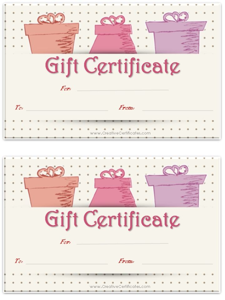 Sample Birthday Gift Certificate Template So Many Free Gift