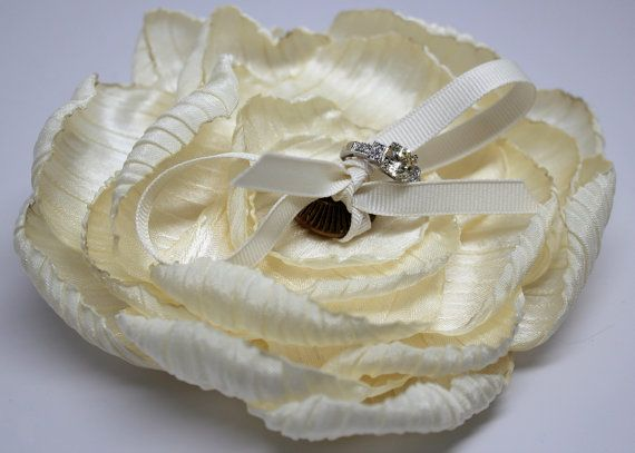 Rustic Butter Cream Ivory Ring Bearer Flower with by MakeBelieveN, $40.00