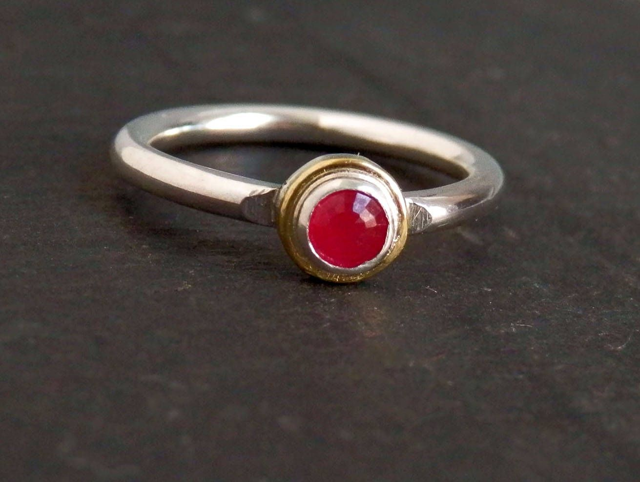 Dainty ruby ring ruby engagement ring k gold ring july