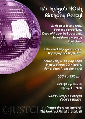 70s party quotes by quotesgram party pinterest 70s party love this card br this listing is for a customized printable invitation file only colors fonts and wording can be changed to match your theme br br stopboris Gallery