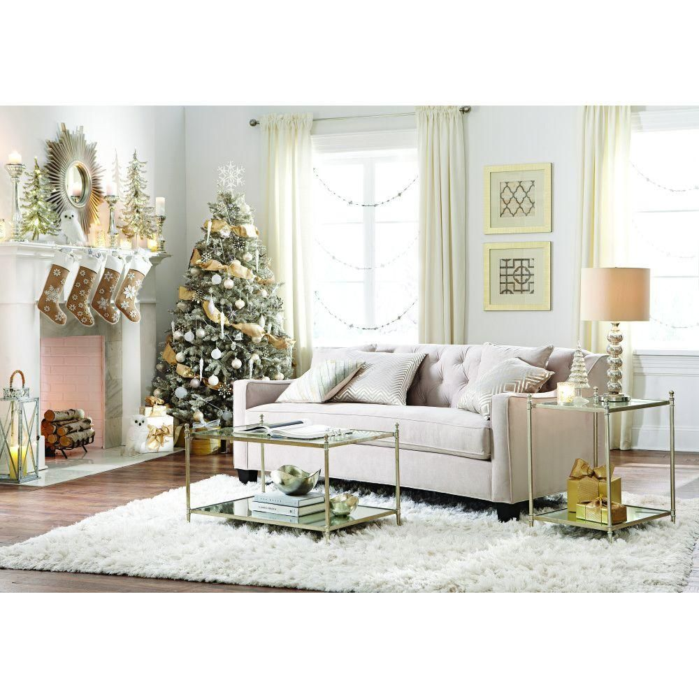 Home Decorators Tufted Sofa Leather World Uk Collection Riemann Polyester 1 Piece Curved In Microsuede Pearl 9419200810 The Depot