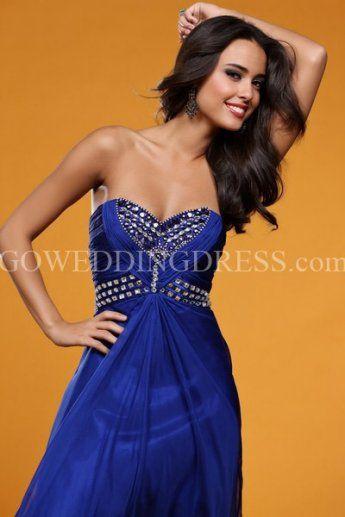 Princess Sweetheart Floor Length Chiffon Prom Dress Style E22109