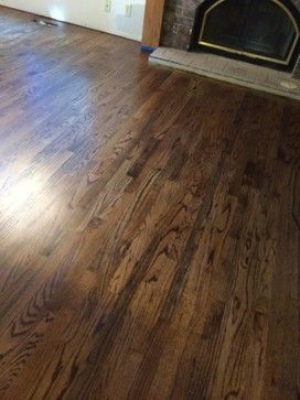 Jacobean Stained Red Oak Wall Trim Color Hardwood Floor Stain Colors Wood Floor Colors Wood Floor Stain Colors
