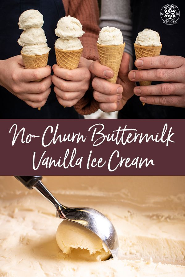 No Churn Buttermilk Vanilla Ice Cream Recipe Savory Spice Shop Vanilla Ice Cream Recipe Homemade Buttermilk