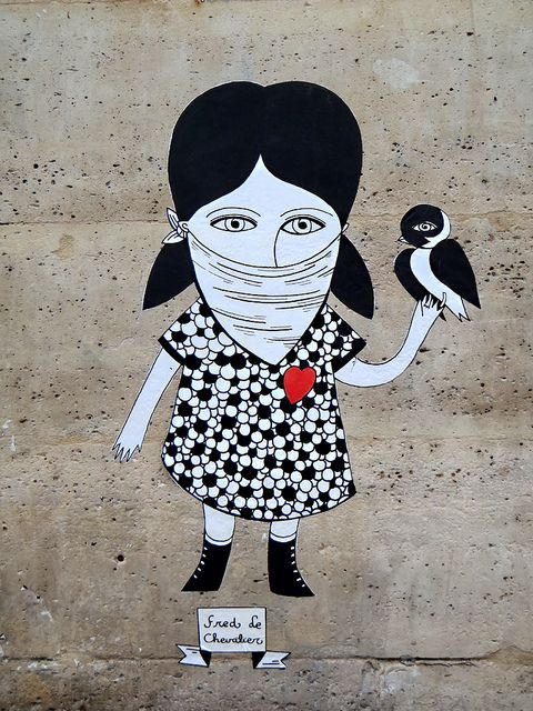 Street art bird guerrilla by Fred le Chevalier | Flickr - Photo Sharing!