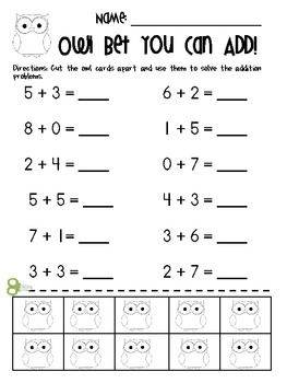 addition worksheets with counters included math activities addition worksheets kindergarten. Black Bedroom Furniture Sets. Home Design Ideas