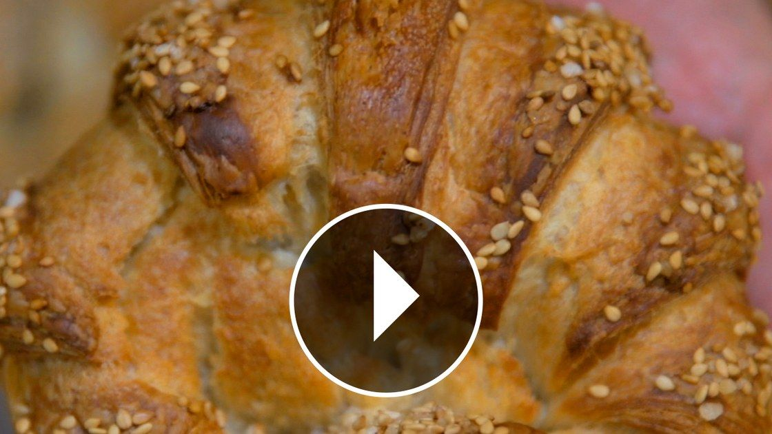 video the pretzel croissant of city bakery  food bakery