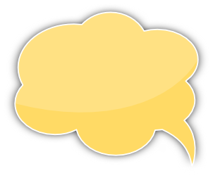 Speech Bubble Cloud Yellow Left Images Bulles