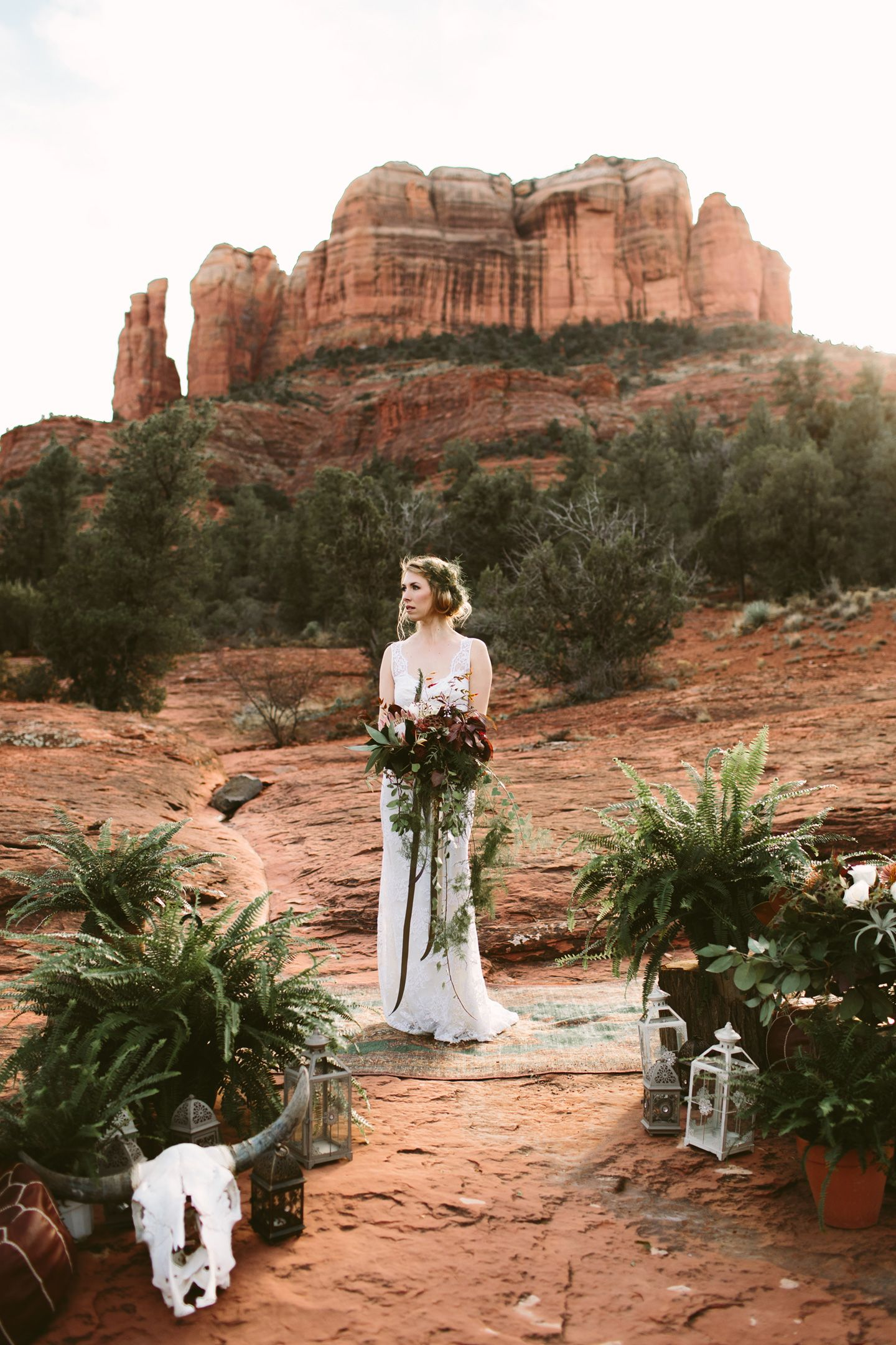 Sedona Red Rock Elopement Wedding At Cathedral Rock Elope